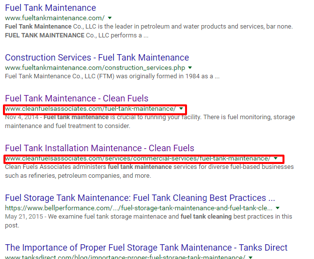 search result example