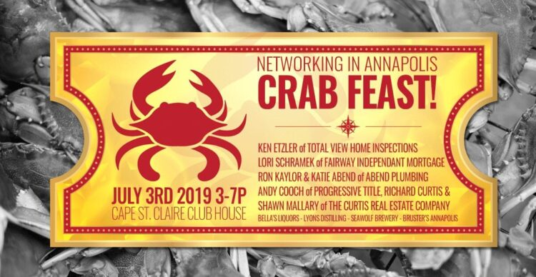 Networking in Annapolis Crab Feast 2019